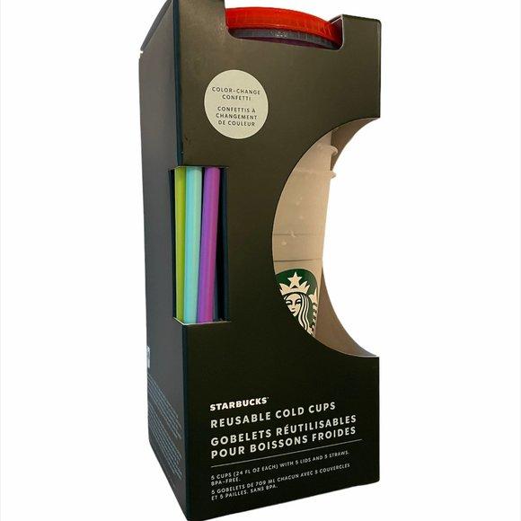 NEW☀️Starbucks Color Changing Confetti Cups 5pk